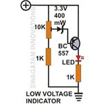 Low Voltage Indicator Circuit Diagram, Image
