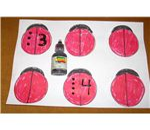 Ladybug Bingo Game Board