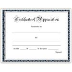Simple Teacher Appreciation Certificate for Word
