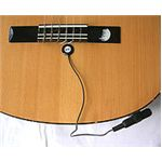 Piezo sensor used as guitar pickup