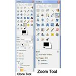 Clone and Zoom Tools in GIMP