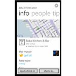 Find somewhere to eat with Review of Windows Phone Foursquare App, 4th & Mayor