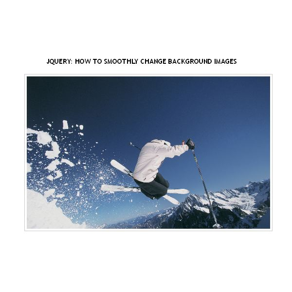 Jquery how to smoothly change background images - Jquery rotate div ...