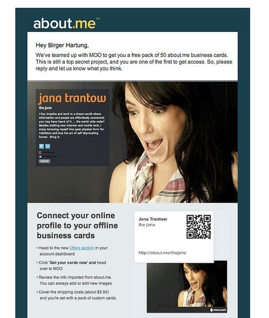 About Me - Newsletter QR BizCards