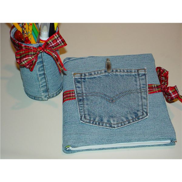 Your kids save denim remnants for the following handmade creations