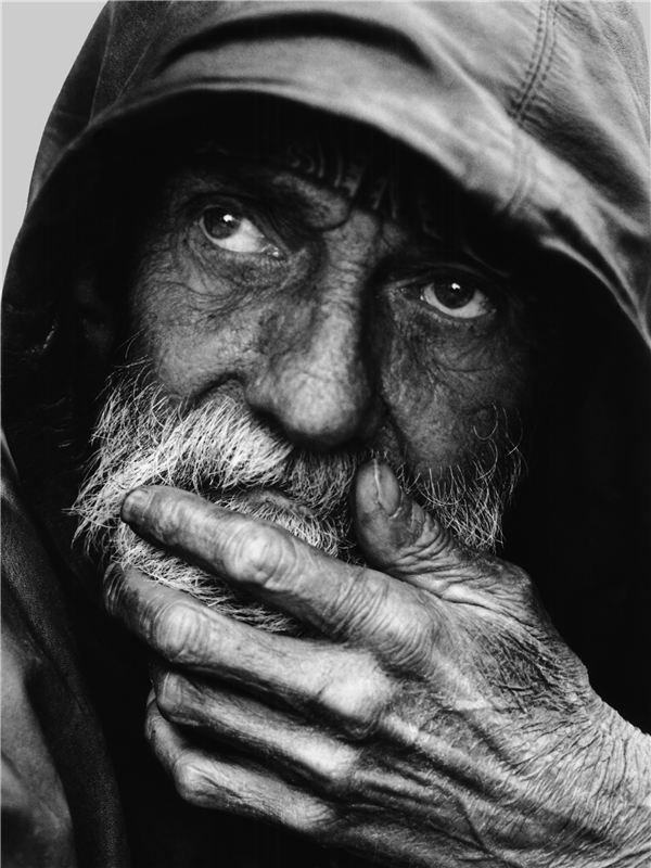 Pensive Homeless Portrait