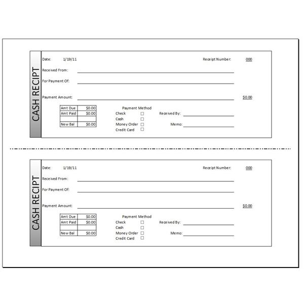 Download a Free Cash Receipt Template for Word or Excel – Format Receipt
