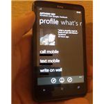 A Windows Phone 7 contact profile