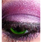Macro green eye with purple m.a.c. and ben nye eyeshadow
