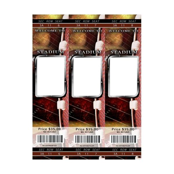 Fun Football Templates Tickets Scrapbook Template  Free Templates For Tickets