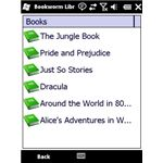 Bookworm screenshot books list