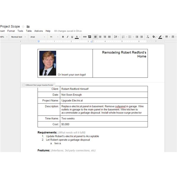 10 Great Google Docs Project Management Templates – Task Form Template