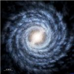 Milky Way based on current observations - Image courtesy of Spitzer/Caltech