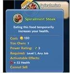 Yummy food gives you stat bonuses.