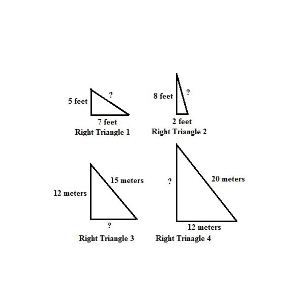 Practice using the pythagorean theorem to find missing sides of right triangles ccuart Gallery