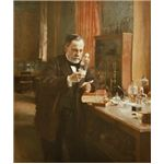 Louis Pasteur in his laboratory.