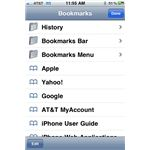 iPhone bookmarks