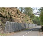 Rock Fall Fence Protecting Road