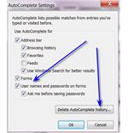 Internet Explorer AutoComplete Settings
