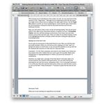 Microsoft Word: Mac 2008