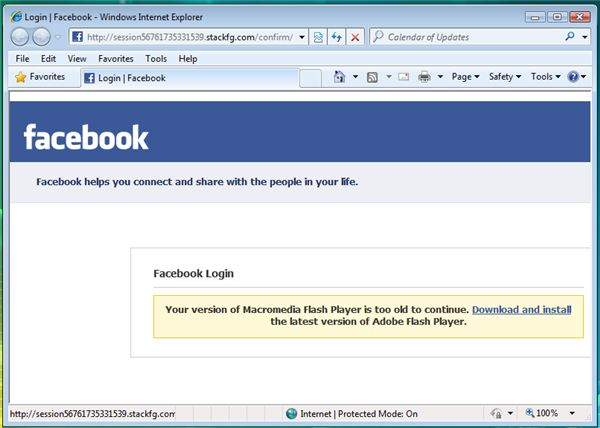 A Fake Facebook Login Page