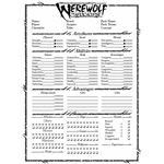 Werewolf the Apocalypse Character Sheet
