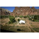Flying over Supai Village in the Western edge