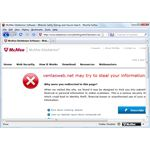 McAfee Detects Phishing Page