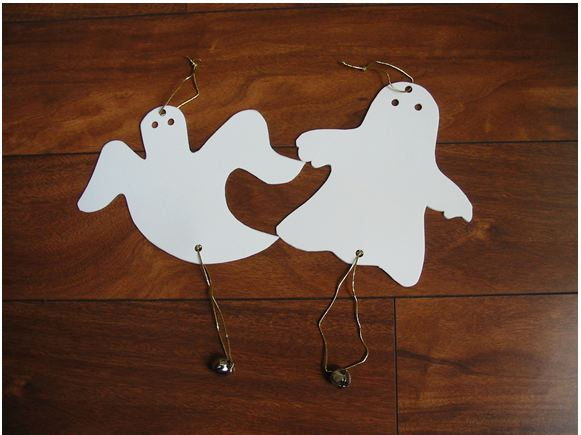 Hanging Jingle Bell Ghost