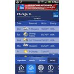 Local Weather from Weather Channel App