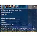 Armor Piercing Spear Recipe