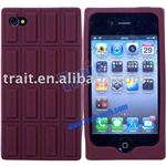 for iPhone 4 4G Silicone Skin Case With Chocolate Scent Brown