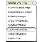Standard and Custom Video Sizes