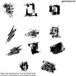 11 Grunge Brushes Imagepack by Kristinastar