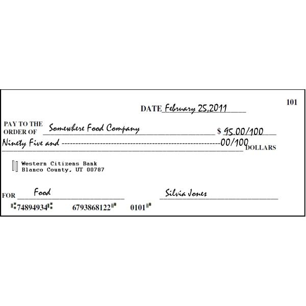 Free Printable Check Templates! Great for teaching kids the value ...