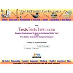Tests Tests Tests Home Page