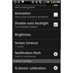 Changing the Light Settings on the HTC Incredible
