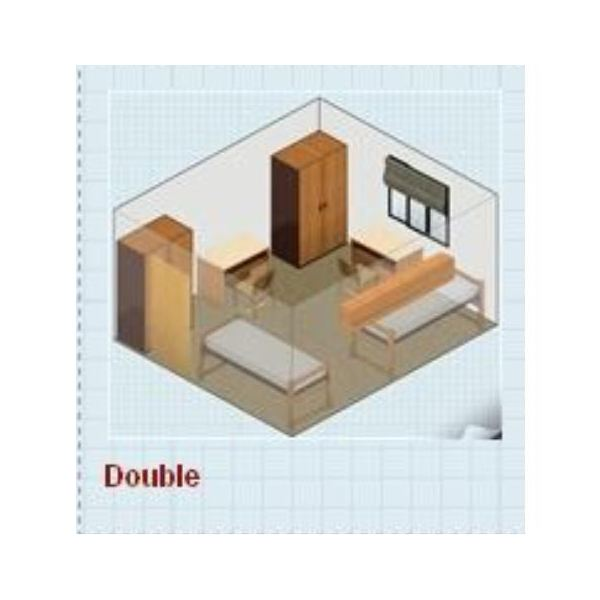double room with single beds. Cost Free Dorm Room Design   Options