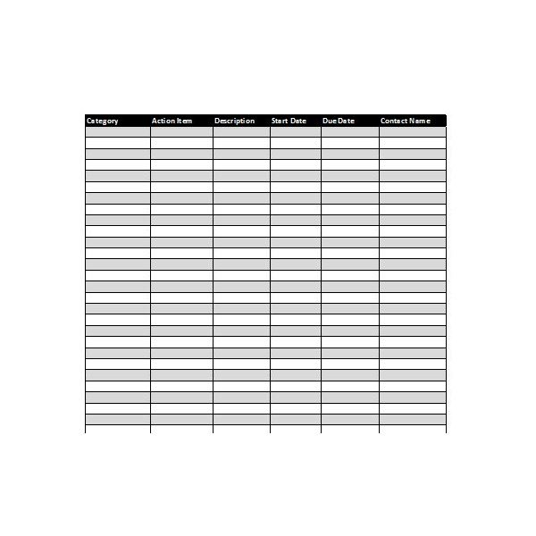 action item tracker template - collection of excel project management tracking templates