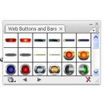 Adobe Illustrator CS3 Buttons- round glass play and stop buttons- web buttons and bars box