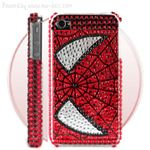 Spider-man Diamond Rhinestone Bling Hard Case for iPhone 4 (Red)220
