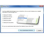 Backup Data Window