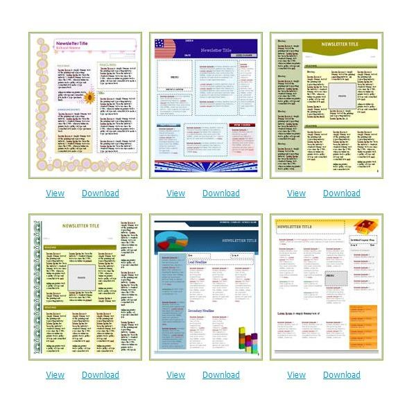 Certificate Street Newsletters  Newsletter Templates In Word