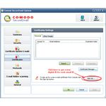 Fig 1 Comodo SecureMail - Getting a Certificate