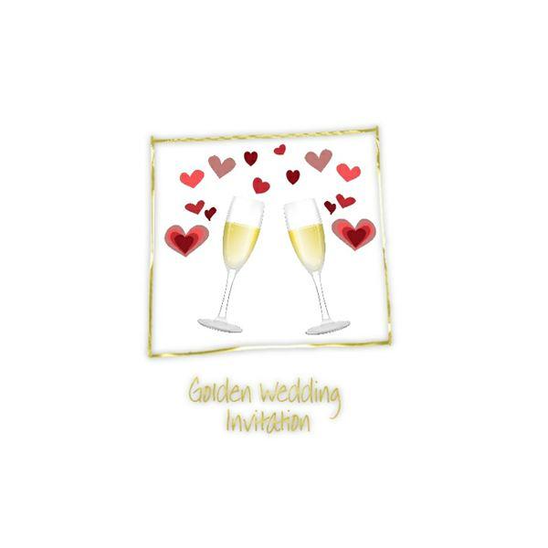 Free Golden Wedding Anniversary Invitation Pads Cards