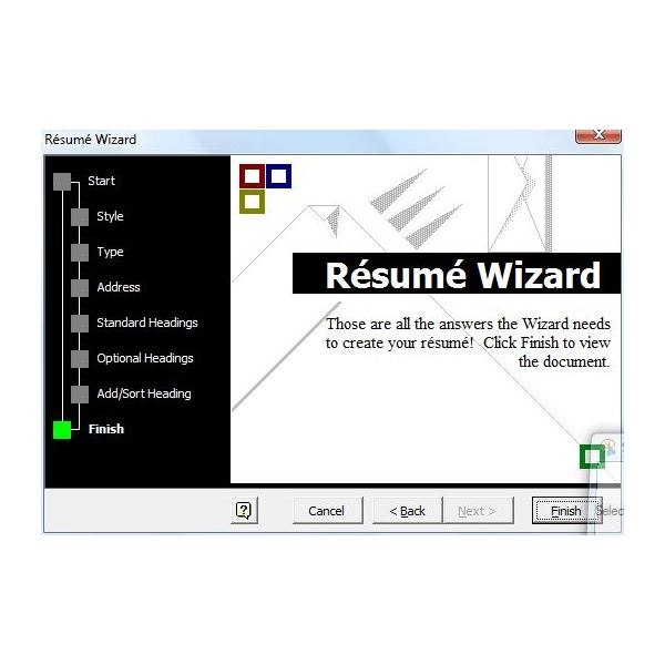 Article Image Once The Wizard ...  Microsoft Resume Wizard
