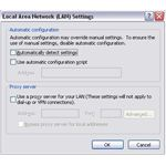Checking LAN Proxy settings in IE8