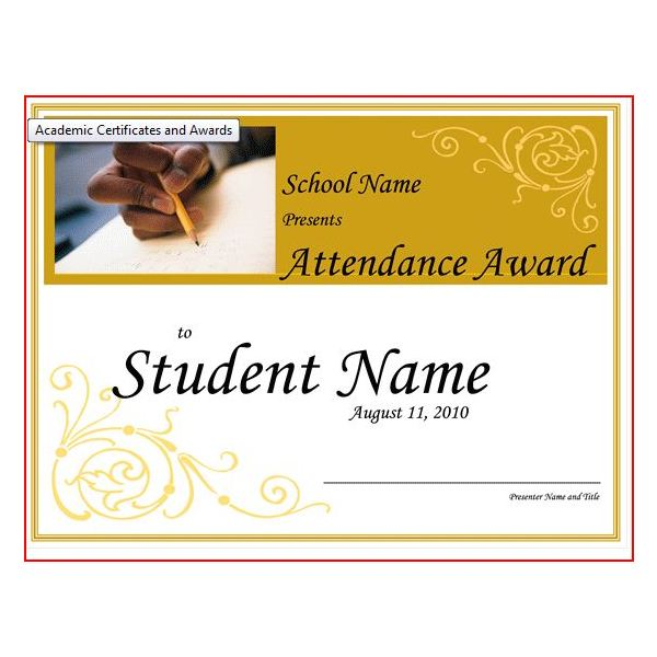 Free printable award certificates10 great options for a wide award certificate student attendence yadclub Images
