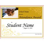 Award Certificate Student Attendence