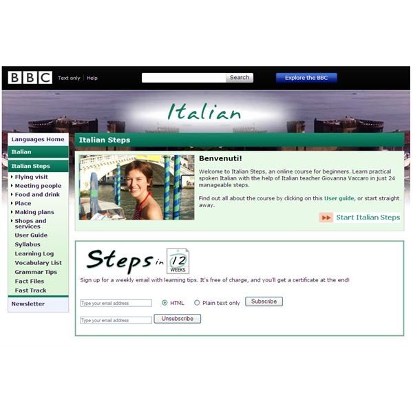 Learning Italian Online for Free! Italian Steps by BBC